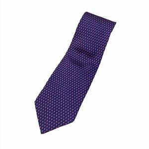 YSL Yves Saint Laurent Acorn Print 100% Silk Tie